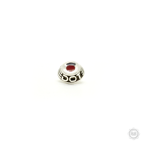 Bashert Jewelry custom handcrafted soft release buttons for Leica cameras. Polished and Oxidized Sterling Silver 925 and Red Enamel. Proudly Made in America. Free Shipping to USA. Worldwide shipping available. Bashert  Jewelry