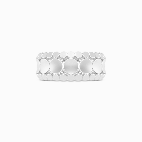Uni-sex beveled wedding ring. Three-row comfort fit concave inner band with two beveled-edge outer bands. Hand-fabricated in Sterling Silver, White Gold or Platinum 950. Free Shipping All USA Orders. | BASHERT JEWELRY | Boca Raton Florida