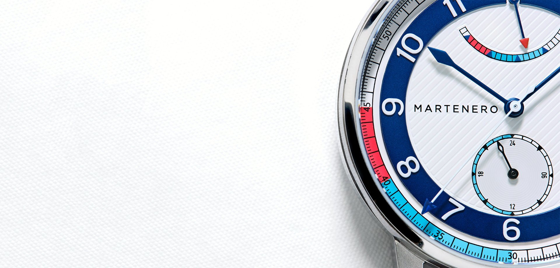 A nautical-themed watch in a variety of bold colorways