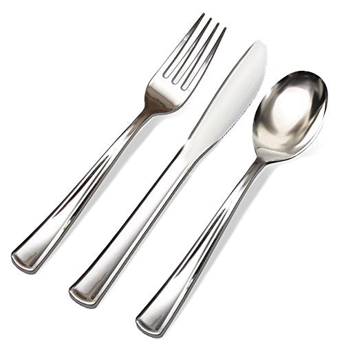 Premium Plastic Silverware. Elegant, Durable, and Perfect for Weddings, Events and Catering