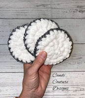 Crocheted Facial Rounds, Reusable Makeup Remover Rounds, Ecofriendly Crochet Face Scrubbies, Facial Cloths, Cosmetic Remover Pads, Spa Set