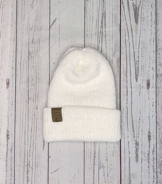 White Alpaca Knit Beanie, Adult Winter Hat, Alpaca Wool Beanie, Womens Neutral Fall Beanie, Mens Alpaca Knit Hat, Rolled Brim Beanie