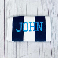 Monogrammed Striped Cabana Beach Towels