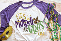 Mardi Gras Raglan Shirt, Adult Mardi Gras Shirt, Purple/White Mardi Gras Shirt, Carnival Tee, Women's Graphic Tee, Fat Tuesday Shirt, Cajun