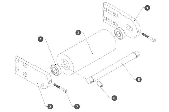 Wrap Station Driven Pulley Assembly