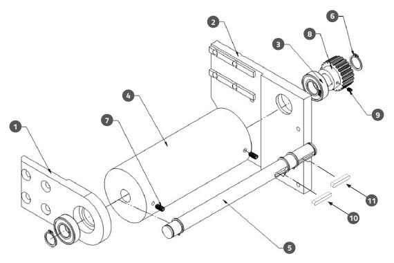 Wrap Station Driving Pulley Assembly