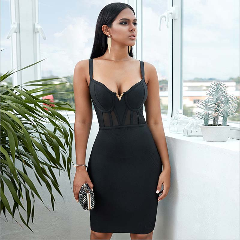 Nail 9-5 dressing with our simple Call Me Sugar Mini Dress and its powermesh corset waist detailing. Channel some serious sexy boss girl vibes by pairing it with killer heels to take you from day to night.