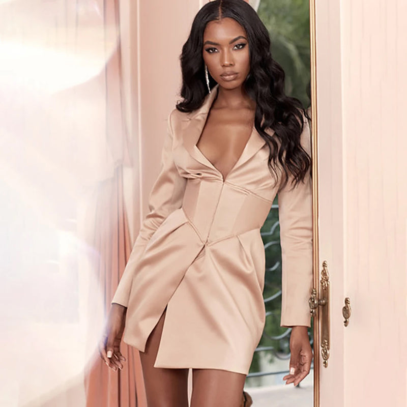 Sun kissed Satin Mini Dress