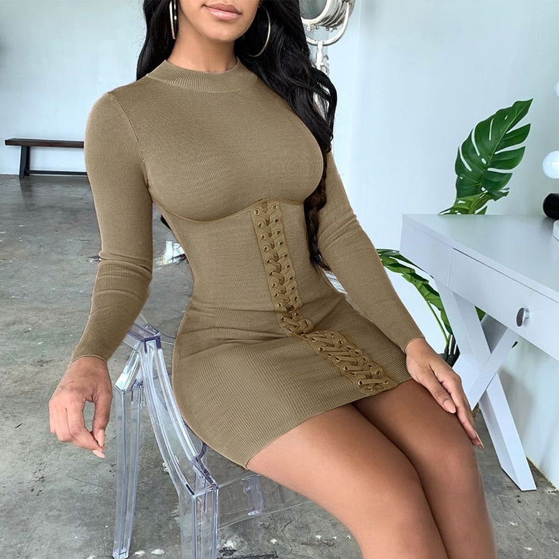 The Hold Me Tight Bodycon Mini Dress is a premium dress, complete with corset and hold up detail. It's the everyday wear closet need, not a want.