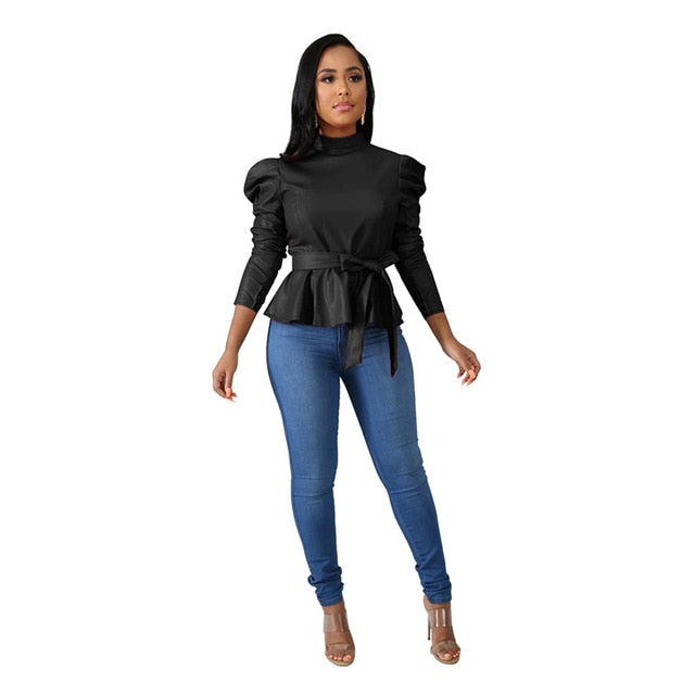 We are proud to introduce our Lady Boss Blouse to boost that inner boss vibe in you. A matchmake of chiffon puff sleeves and a frill hem for an effortlessly chic style. Team it up with big square earrings, sunglasses, denim, and black heels to enhance the boss vibe in you.