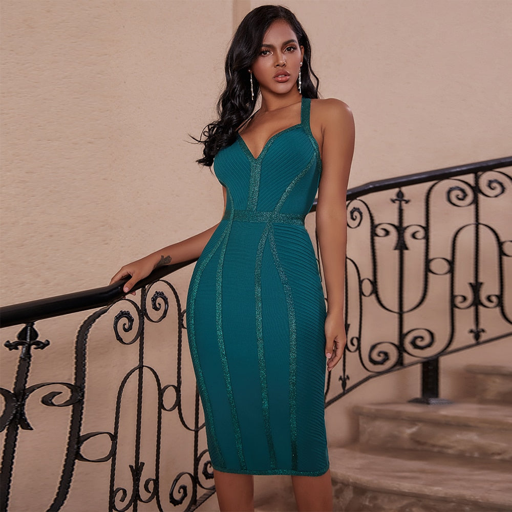Step out in style this season with our Make Them Green With Envy Midi Dress, which features an elegant sweetheart neckline. This versatile bodycon dress is a must- have staple in your wardrobe this upcoming party season! Style with a pair of barely there heels and cute clutch ready for a night on the town!
