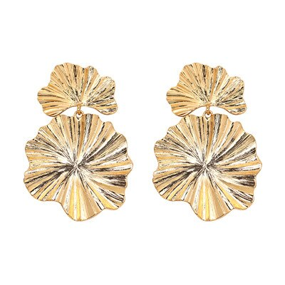 Turn over a Golden Leaf Earrings