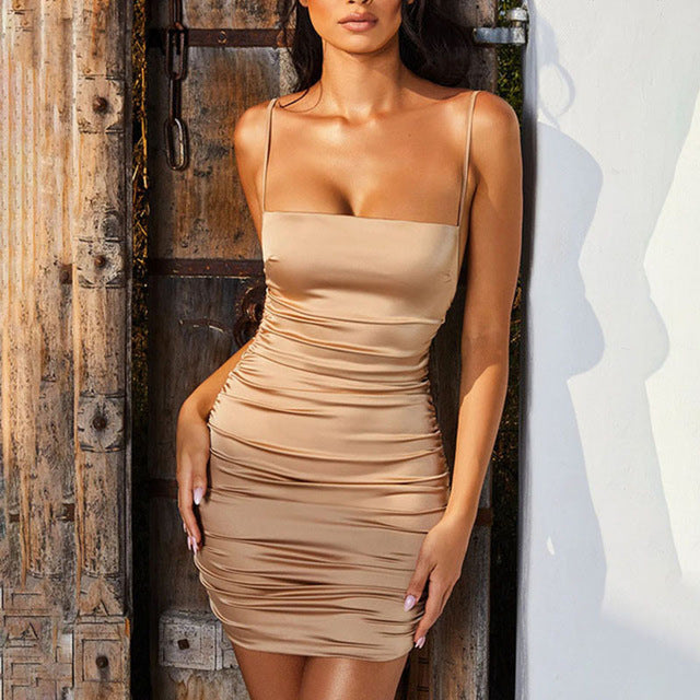 Lovers Satin Mini Dress