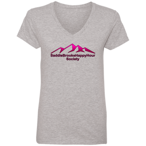 SaddleBrooke Happy Hour Society Women's V-Neck T-Shirt - SaddleBrookeUSA