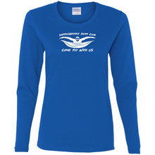 "Load image into Gallery viewer, ""Come Fly With Us"" Womens Cotton LS T-Shirt"