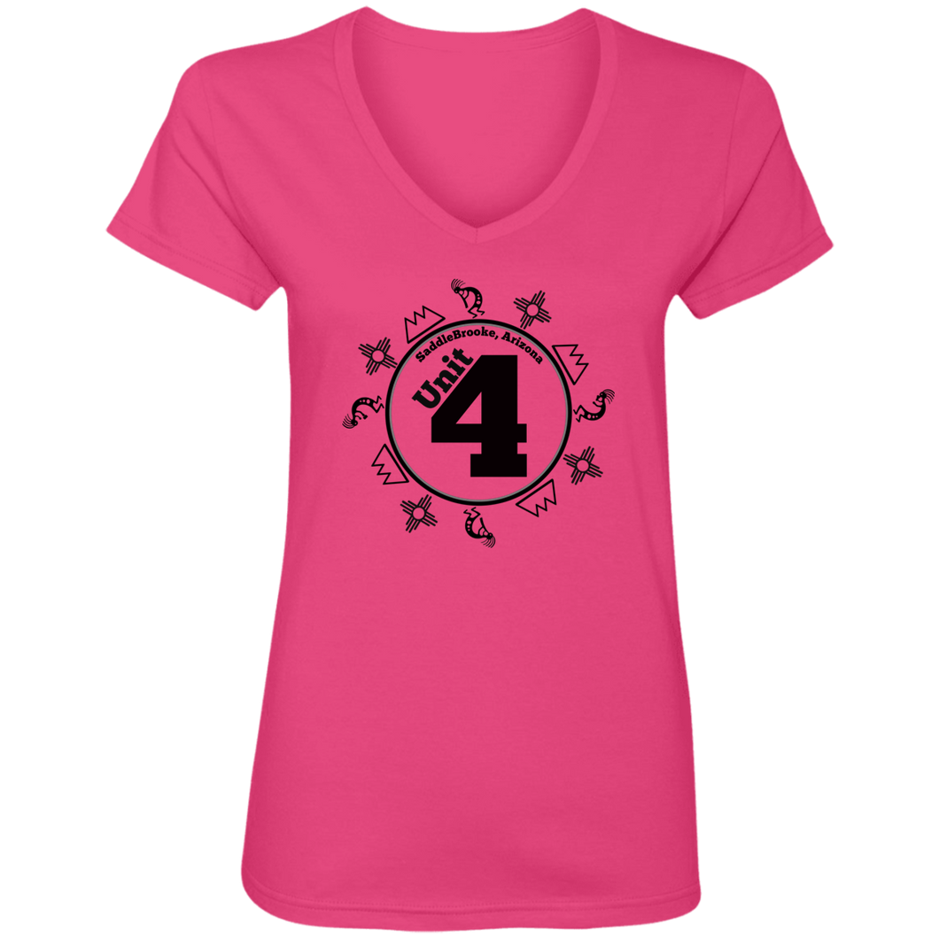 Unit 4 Women's V-Neck T-Shirt - SaddleBrookeUSA