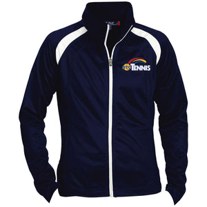 """Tennis"" Womens' Raglan Sleeve Warmup Jacket - SaddleBrookeUSA"
