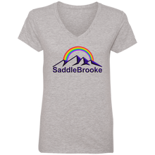 "Load image into Gallery viewer, ""Rainbow"" Women's Cotton V-Neck T-Shirt - SaddleBrookeUSA"