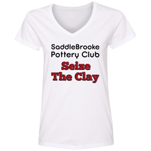 Load image into Gallery viewer, SB Pottery Club Women's V-Neck T-Shirt - SaddleBrookeUSA