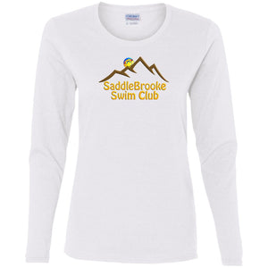 """SSC Smiley Logo"" Women's Long Sleeve Cotton T-Shirt - SaddleBrookeUSA"