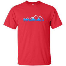 "Load image into Gallery viewer, ""Swim Mountains"" Men's Tall Ultra Cotton T-Shirt - SaddleBrookeUSA"