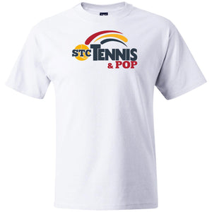 """Tennis & POP"" Mens' Heavy Weight  T-Shirt - SaddleBrookeUSA"