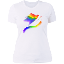 "Load image into Gallery viewer, ""Hummingbirds"" Women's Cotton Crew Neck - SaddleBrookeUSA"