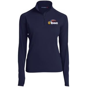 """POP Tennis"" Womens' 1/2 Zip Performance Pullover - SaddleBrookeUSA"