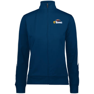"""POP Tennis"" Womens' Performance Colorblock Full Zip - SaddleBrookeUSA"