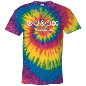 Peace, Love & Happiness Forever Youth Tie Dye T-Shirt - SaddleBrookeUSA