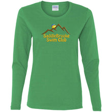 "Load image into Gallery viewer, ""SSC Smiley Logo"" Women's Long Sleeve Cotton T-Shirt - SaddleBrookeUSA"