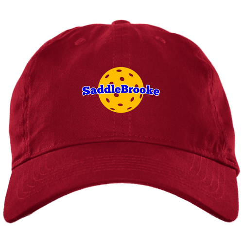 SB Pickleball Brushed Twill Unstructured Ball Cap - SaddleBrookeUSA
