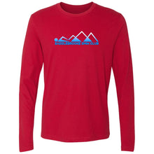 "Load image into Gallery viewer, ""Swim Mountains"" Men's Long Sleeve Cotton Shirt - SaddleBrookeUSA"