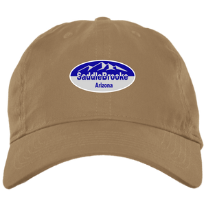Saddlebrooke Oval Brushed Twill Unstructured Ball Cap - SaddleBrookeUSA