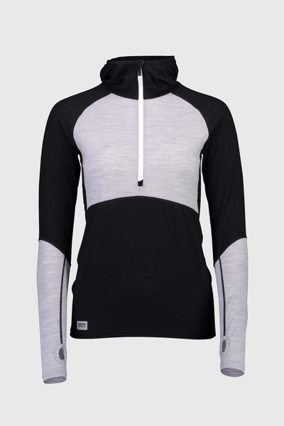 Bella Tech Hood - Black / Grey Marl