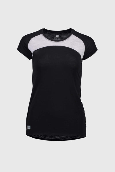 Bella Tech Tee - Black / Grey Marl