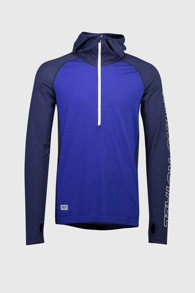 Temple Tech Hood - Navy / Electric Blue