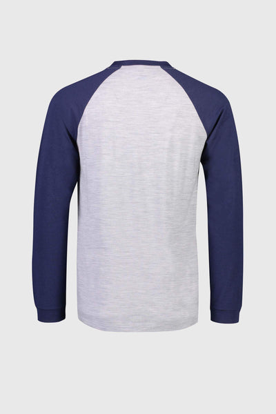 ICON Raglan LS - Navy / Grey Marl