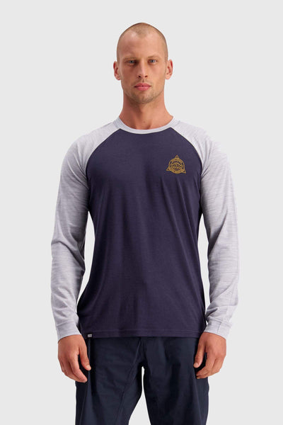 ICON Raglan LS - 9 Iron / Grey Marl