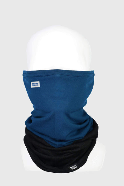 Fifty-Fifty Mesh Neckwarmer - Black / Oily Blue