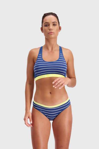 Sierra Sports Bra - Ink Stripe