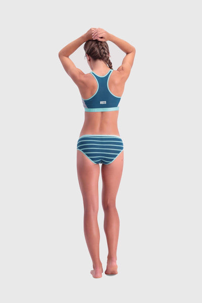 Sierra Sports Bra - Oily Blue / Horizon Stripe
