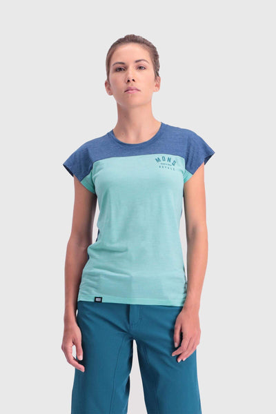 Zephyr Lite Tee - Oily Blue / Peppermint