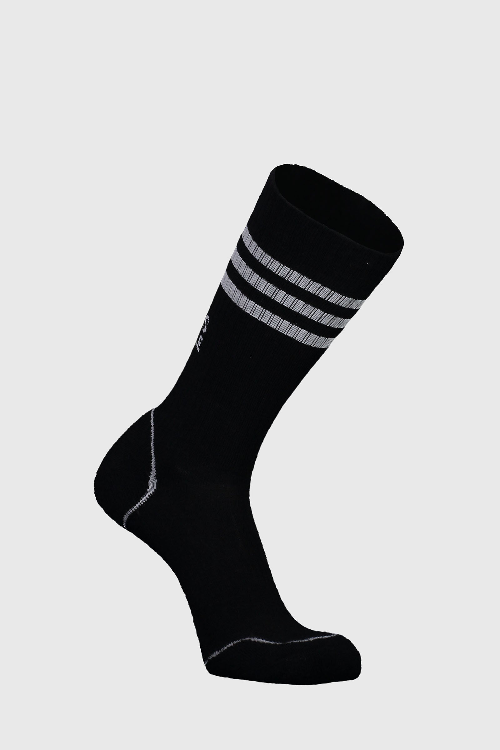 Signature Crew Sock - Black / Grey