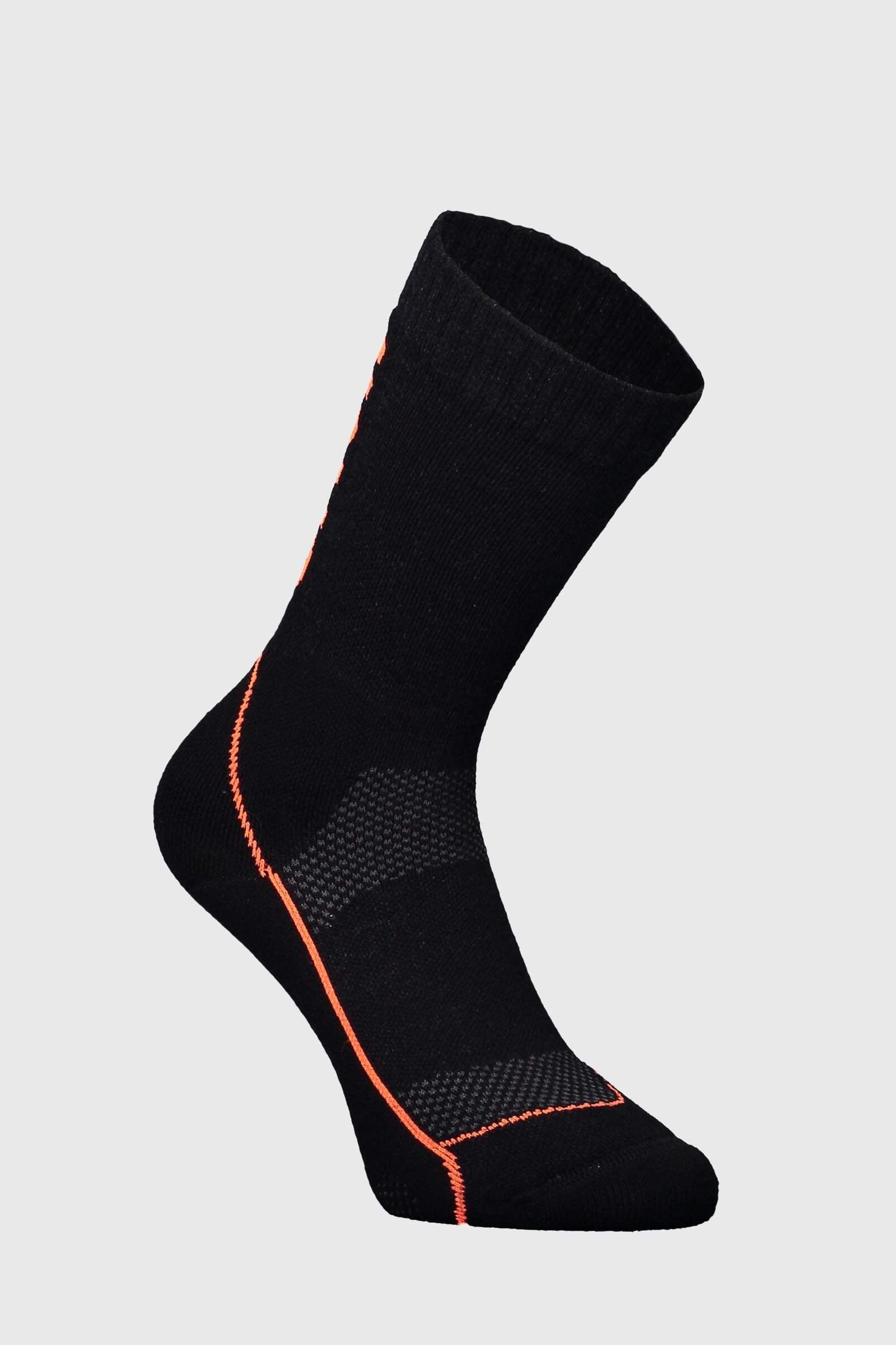 "MTB 9"" Tech Sock Womens - Black / Neon"