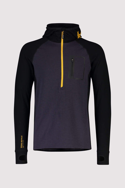 Traverse Midi Half Zip Hood - 9 Iron / Gold