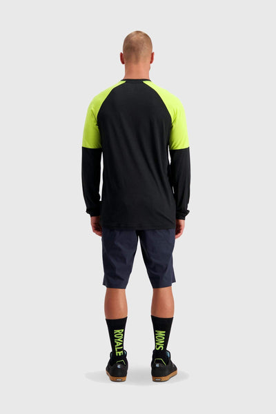Tarn Freeride LS Wind Jersey - Black / Sonic Lime