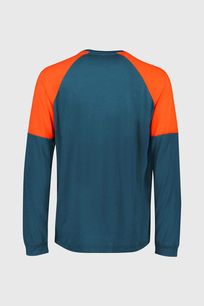 Tarn Freeride LS Wind Jersey - Atlantic / Orange Smash