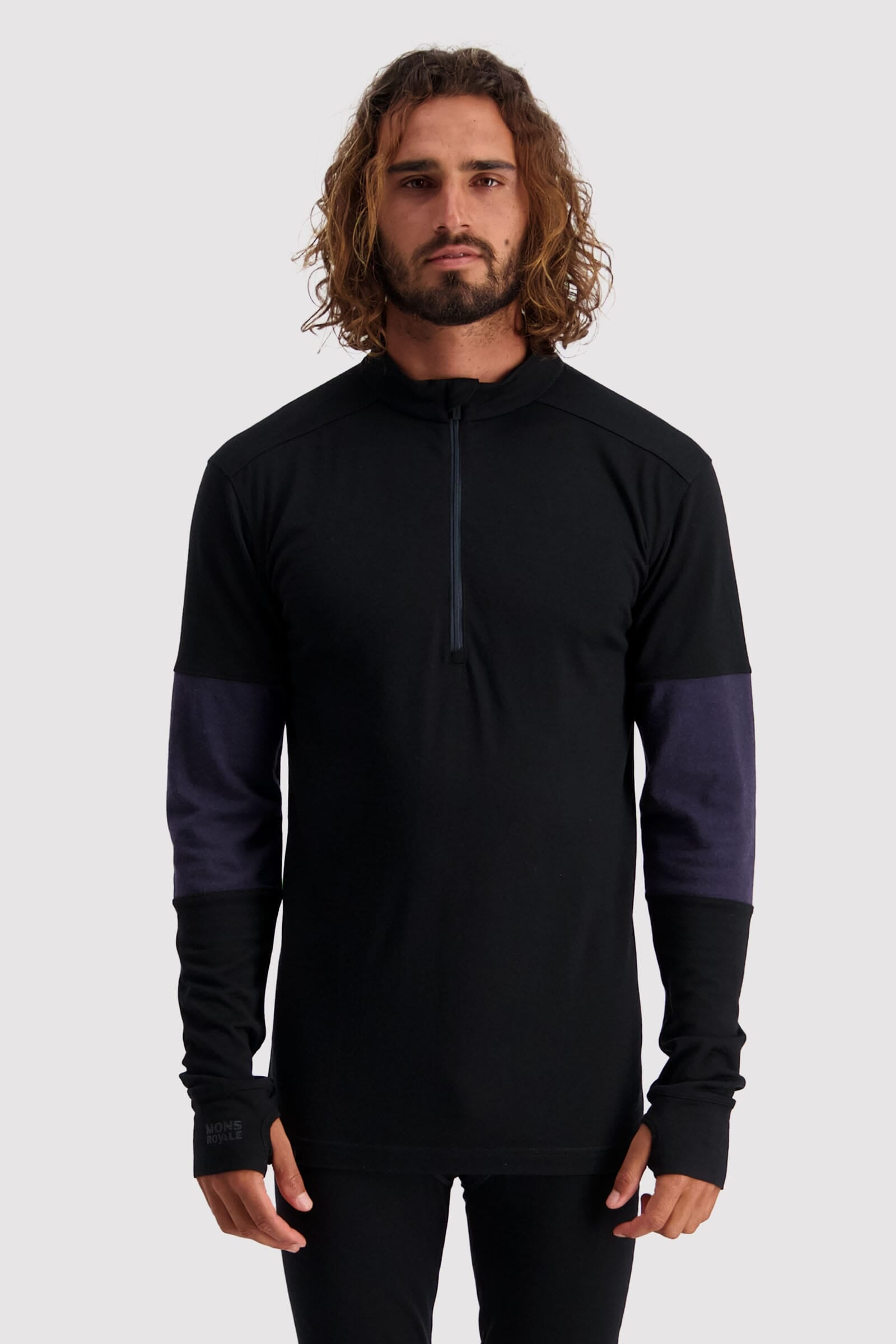 Alta Tech Half Zip - Black / 9 Iron