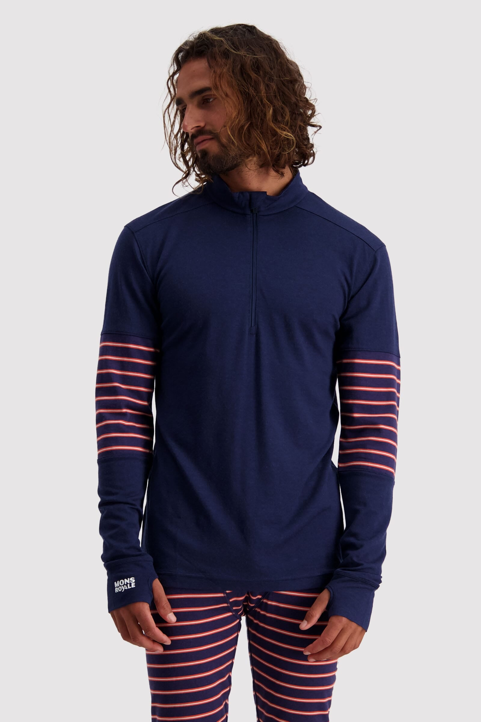 Alta Tech Half Zip - Navy / Alpine Stripe